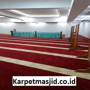 Pemasangan Karpet Masjid Custom At Taubah Bogor