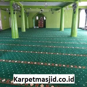 Pemasangan Karpet Masjid Custom Al Munawwarah Siteba Padang