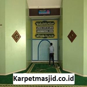 Pemasangan Karpet Masjid Custom Al Istiqomah Bekasi Timur
