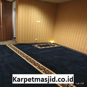 Pemasangan Karpet Masjid Custom PHE Jakarta timur