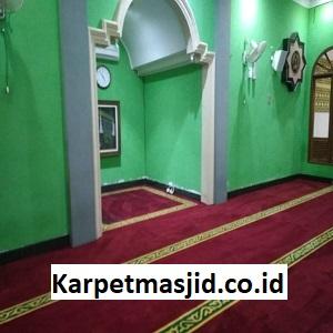 Pemasangan Karpet Masjid Custom Al Gufron Wahana Cikarang